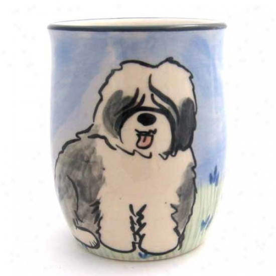 Deluxe Of long date English Sheepdog Mug
