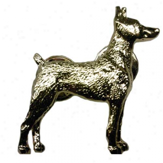 Doberman Pinscher 24k Gold Plated Pin