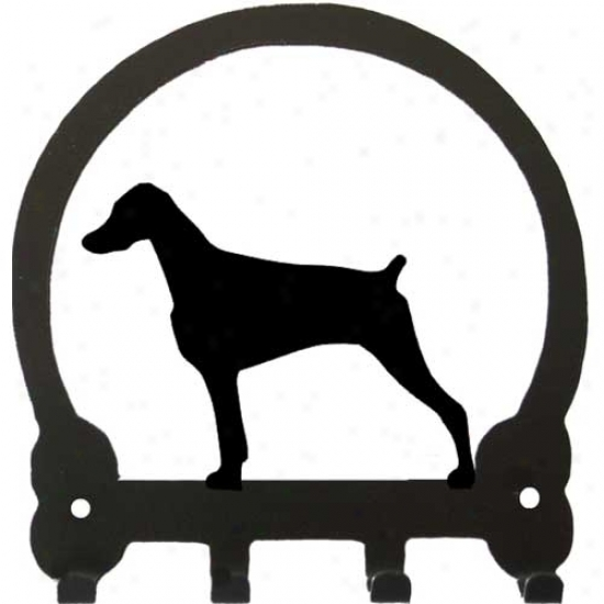 Doberman Pinscher (uncropped) Key Rack By Sweeney Ridge