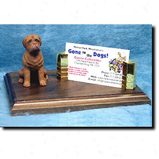 Dogue De Bordeaux Business Card Holder