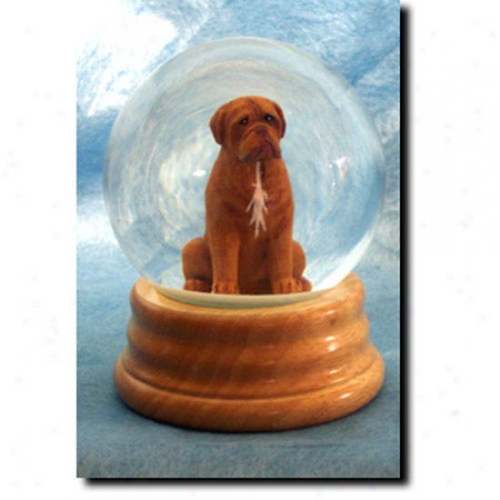 Dogue De Bordeaux Musjcal Snow Globe