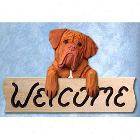 Dogue De Bordeaux Welcome Symbol Oak