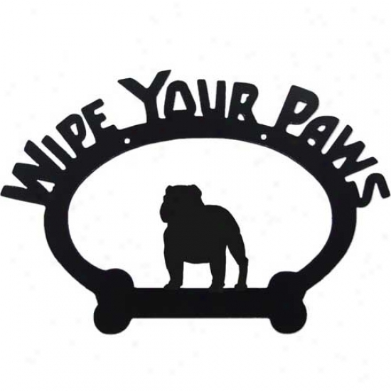 English Bulldog Wipe Your Paws Decorative Sign