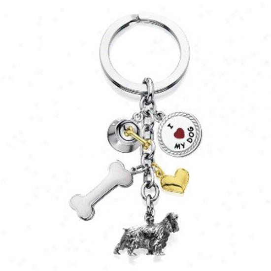 English Cocker Spaniel - I Love My Dog Keychain