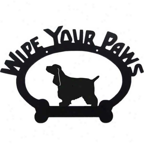 English Cocker Spaniel Wipe Your Paws Decorative Sign
