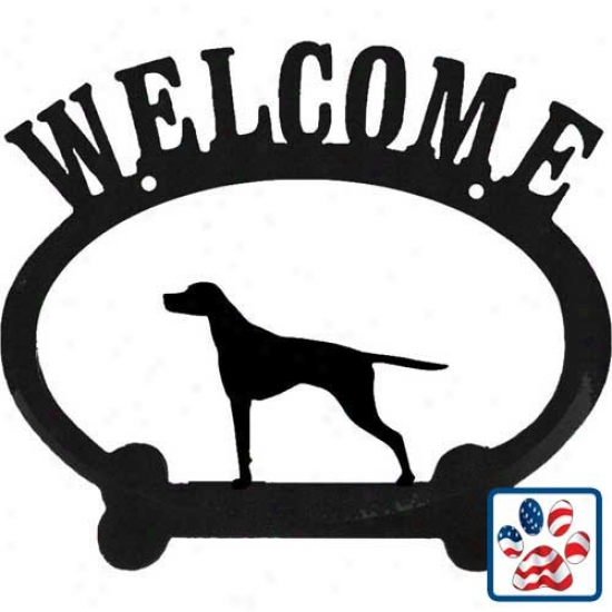English Pointer Metal Welcome Sign