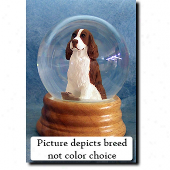 English Springer Spaniel (black) Musical Snow Globe
