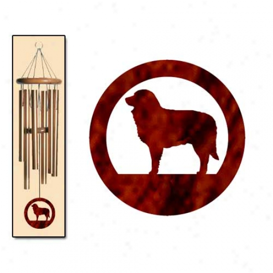 Estrela Mt Dog Wind Chimes Medium Bronze