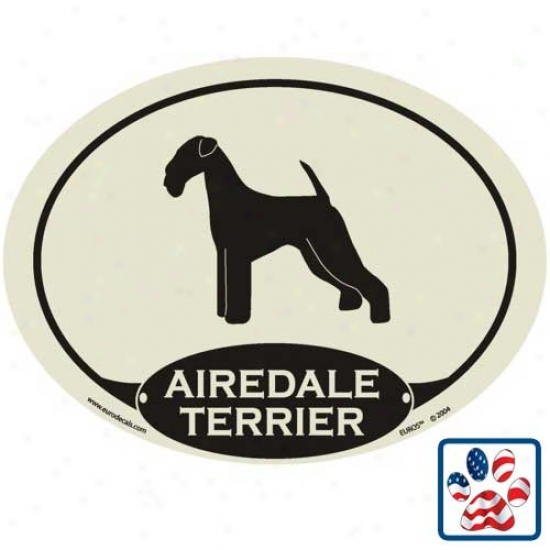 European Style Airedale Terrier Auto Decal