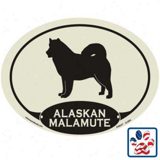 European Style Alaskan Malamute Auto Decal