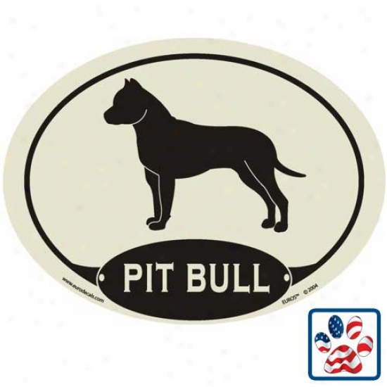European Style American Pit Bull Terrier Auto Decal