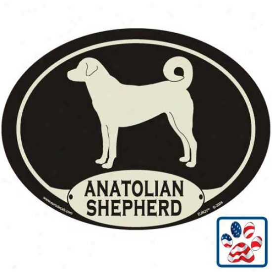 European Style Anatolian Shepherd Dog Auto Decal