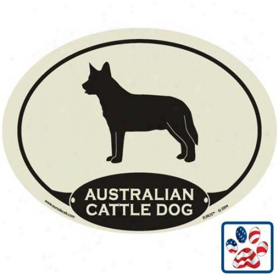 European Style Australian Cattle Dog Auto Decal