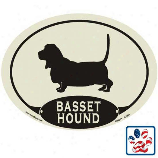 European Style Basset Houd Auto Decal