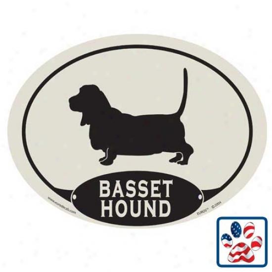 European Style Basset Hound Car Magnet