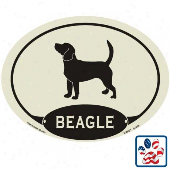European Style Beagle Auto Decal