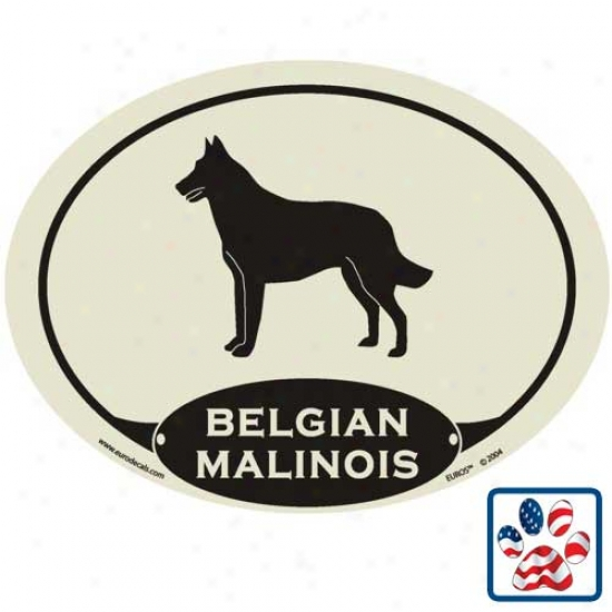 European Style Belgian Malinois Auto Decal