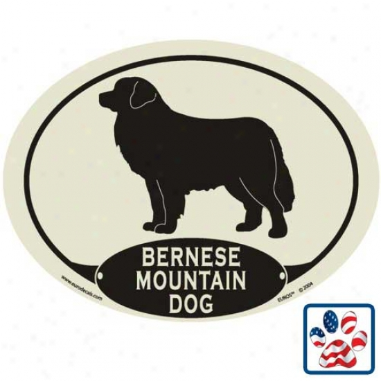 European Style Bernese Mountain Dog Auto Decal