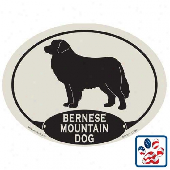 European Style Bernese Mountain Dog Car Magnet
