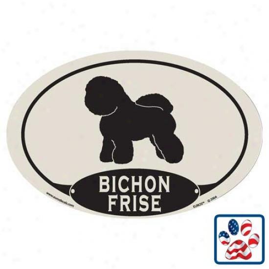 European Style Bichon Frise Car Magnet