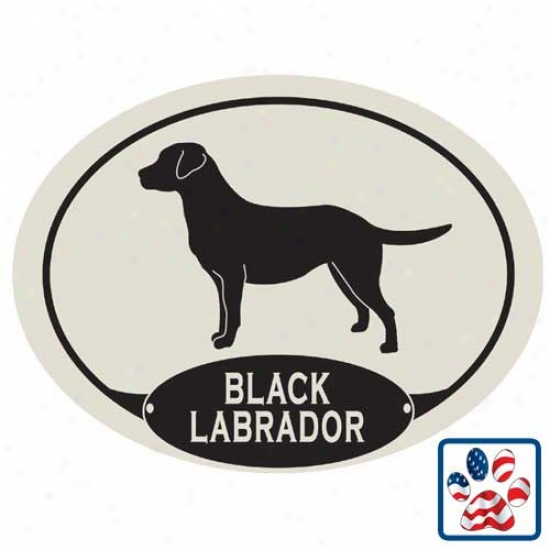 European Style Black Labrador Retriever Car Magnet