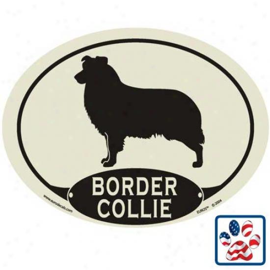 European Style Border Collie Auto Decal