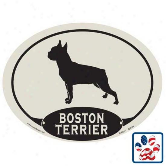 Europen Style Boston Terrier Car Magnet