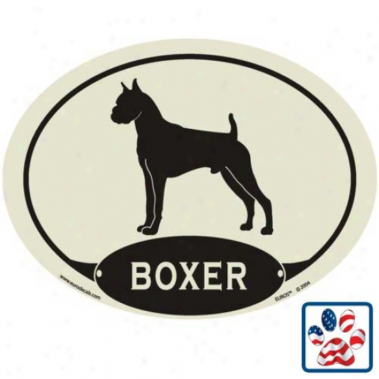 European Style Boxer Auto Decal