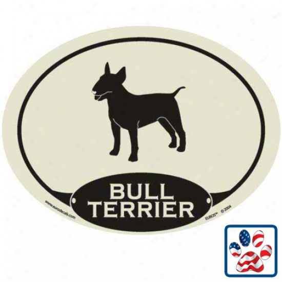 European Style Bull Terrier Auto Decal