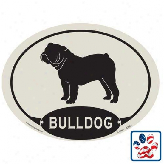 European Style Bulldog Car Magnet
