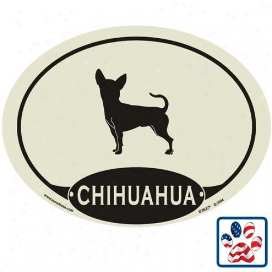European Title Chihuahua Auto Decal