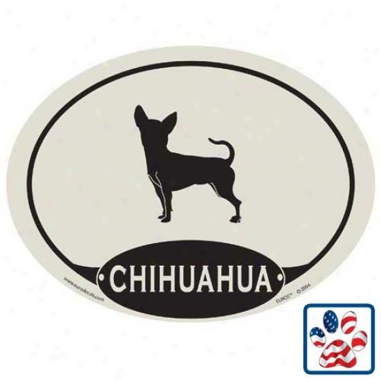European Style Chihuahua Car Magnet