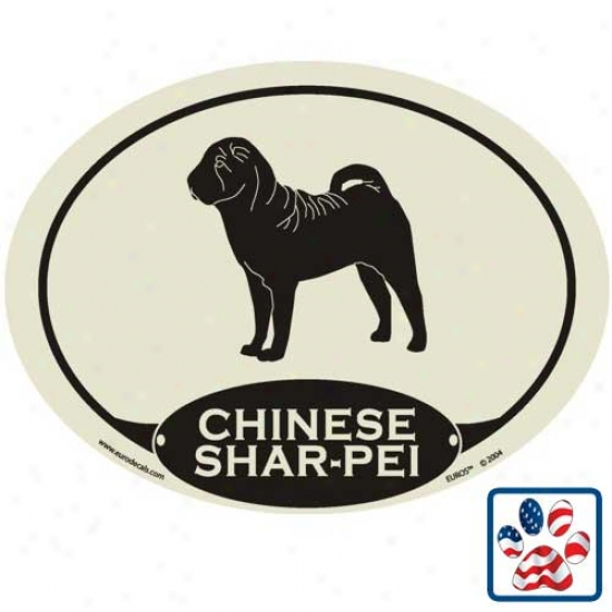 European Style Chinese Shar Pei Auto Decal