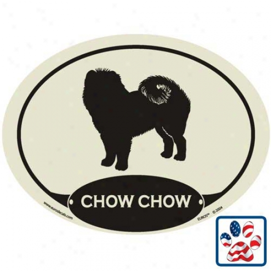 European Style Chow Chow Auto Decal