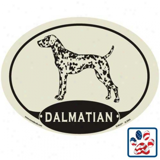 European Style Dalmatian Auto Decal