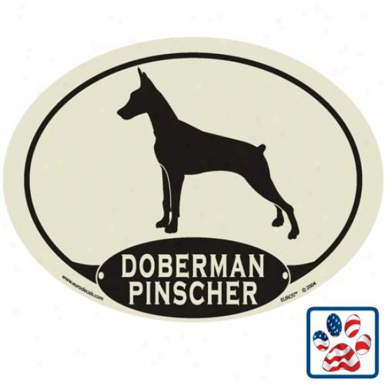 European Style Doberman Pinscher Auto Decal