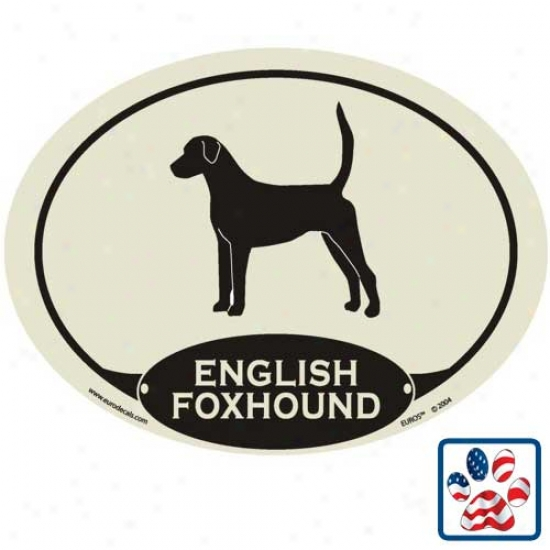 European Style English Foxhouund Auto Decal