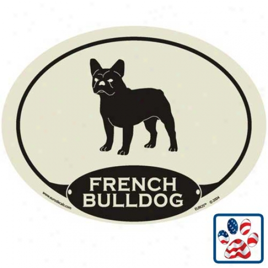 European Style French Bulldog Auto Decal