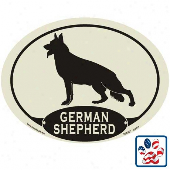 European Sttle German Shepherd Dog Auto Decal