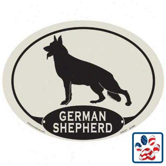 European Style German Shepherd Dog Car Magnet