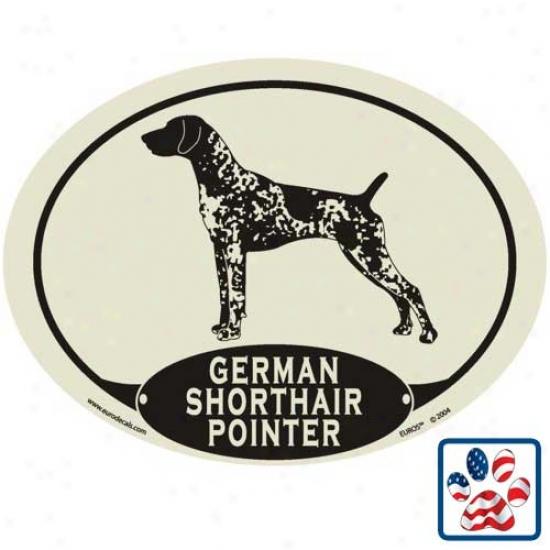 European Style German Shorthair Pointer Auto Decal