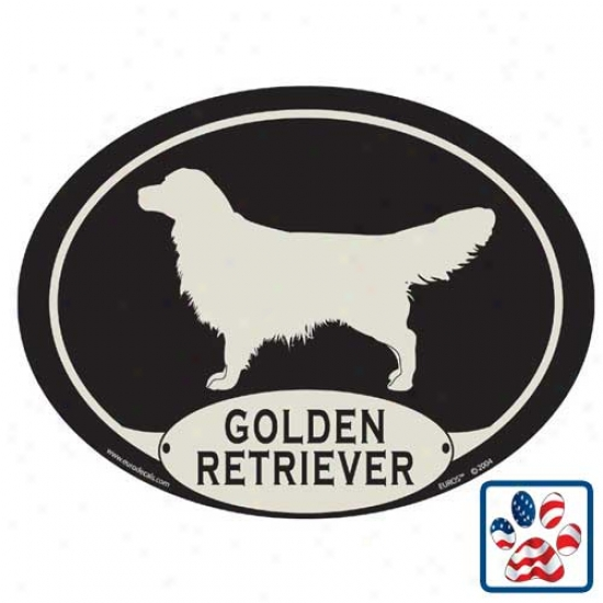 European Style Golden Retriever Car Magnet