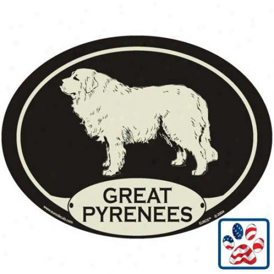 European Style Great Pyrenees Auto Decal