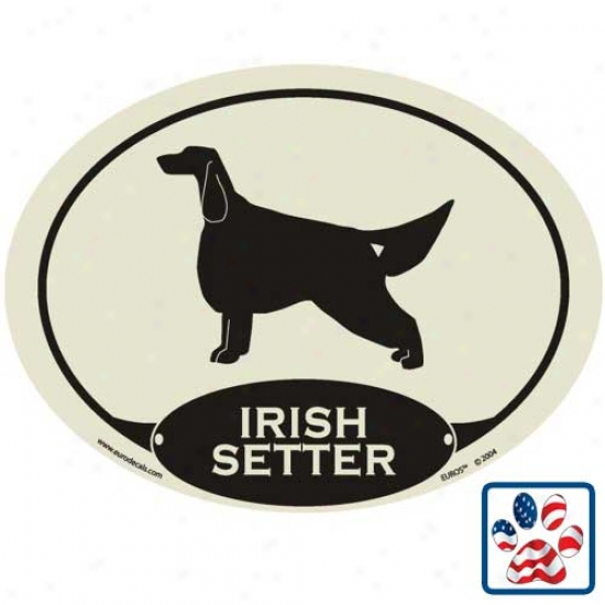 European Style Irish Setter Auto Decal
