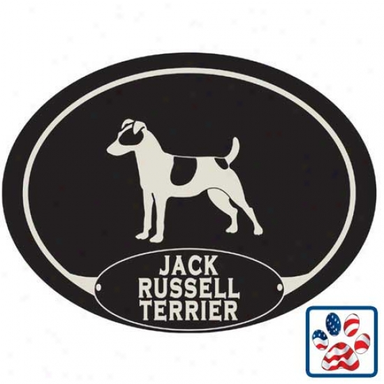 European Style Jack Russell Terrier Car Magnet