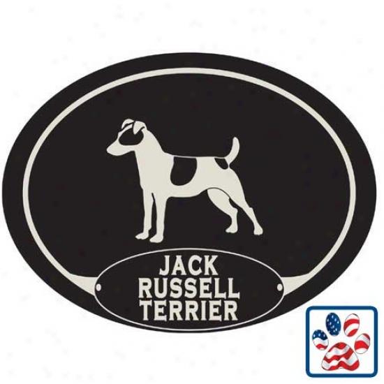 European Style Jack Russell Terrier Car Magnet
