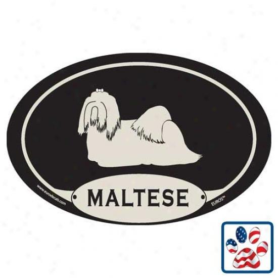 European Style Maltese Car Magnet