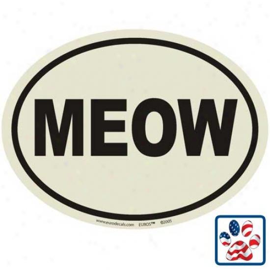 European Style Meow Auto Decal
