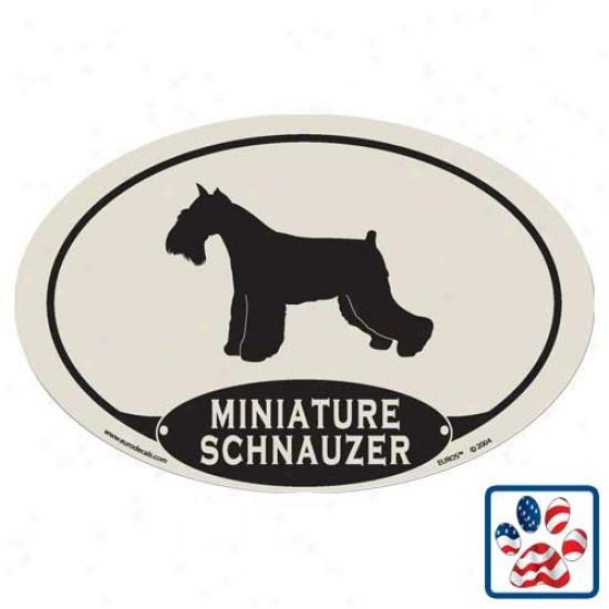 European Style Miniature Schnauzer Car Magnet