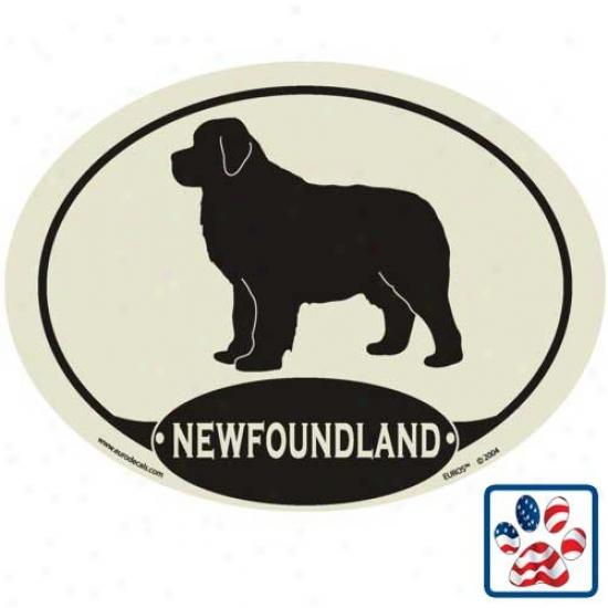 European Style Newfoundland Auto Decal